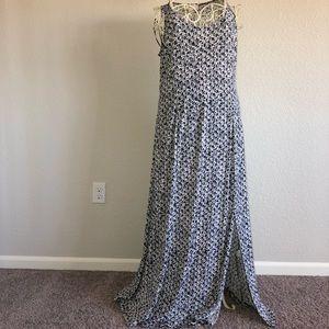 Michael Kors Mix Print Print Maxi Tank Dress